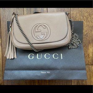 Gucci soho leather flap shoulder bag